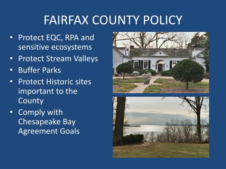 FAIRFAX COUNTY POLICY