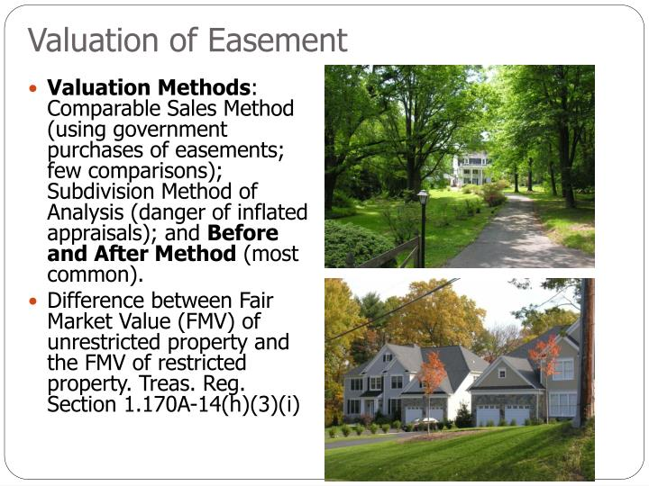 Valuation of Easement