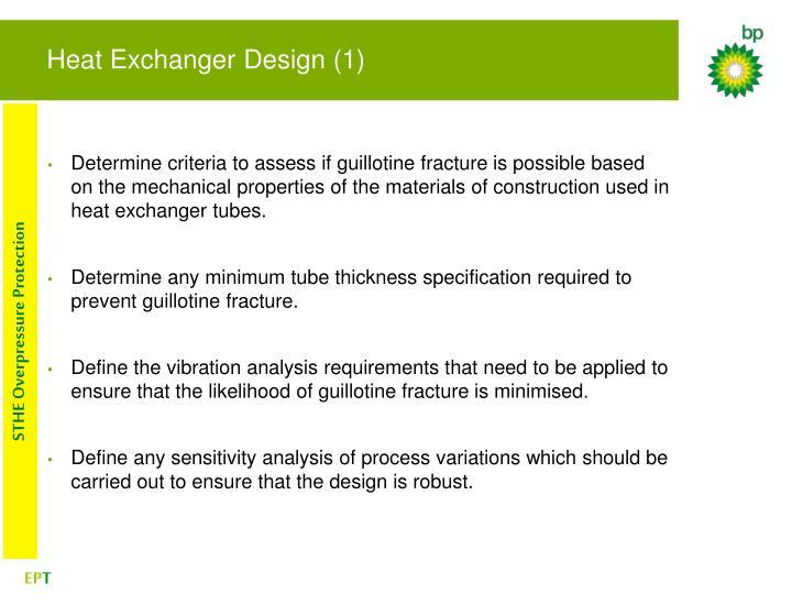 Heat Exchanger Design (1)