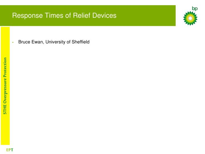 Response Times of Relief Devices