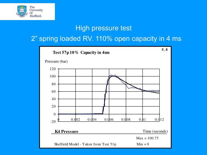 High pressure test