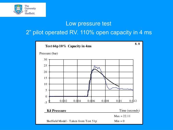 Low pressure test