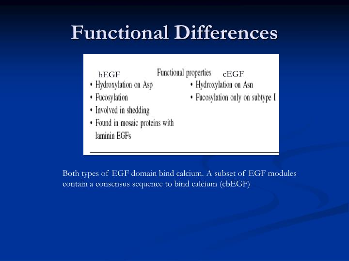 Functional Differences