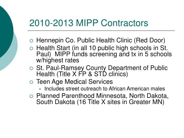 2010-2013 MIPP Contractors