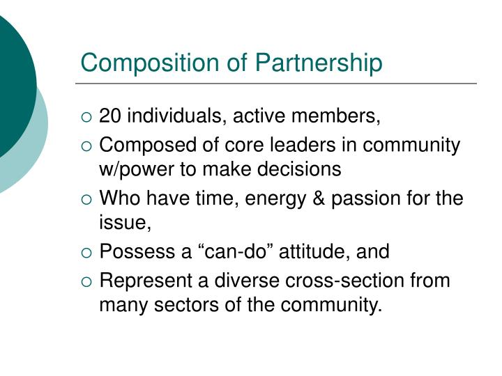 Composition of Partnership