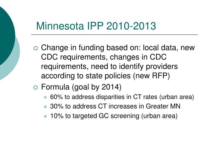 Minnesota IPP 2010-2013