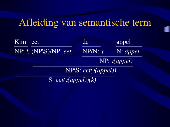 Afleiding van semantische term