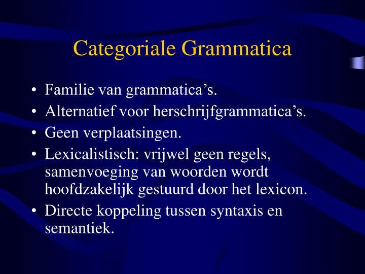 Categoriale grammatica1