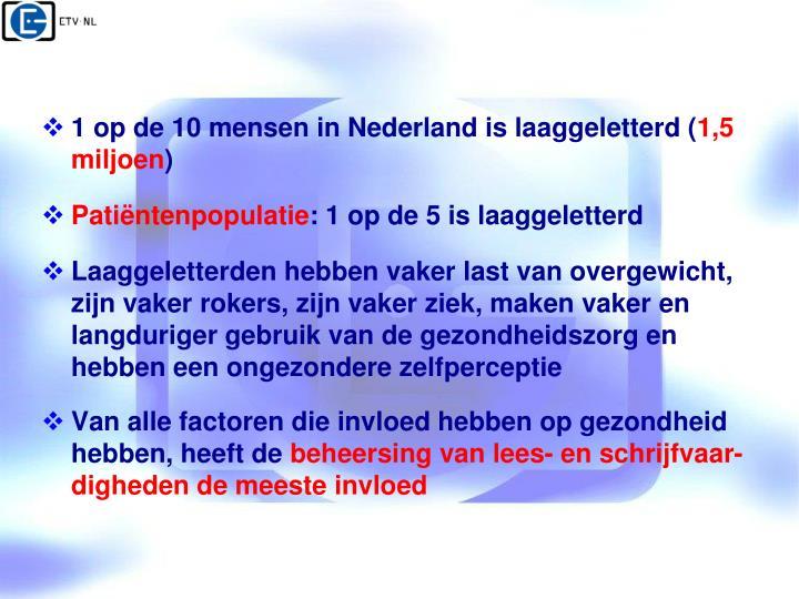 1 op de 10 mensen in Nederland is laaggeletterd (