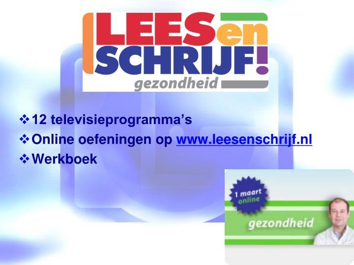 12 televisieprogramma's