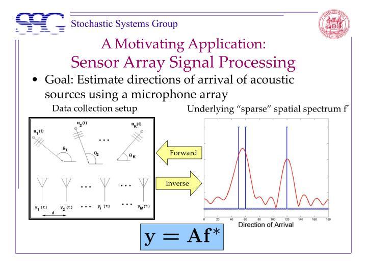 A motivating application sensor array signal processing