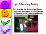 logic accuracy testing