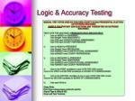 logic accuracy testing21