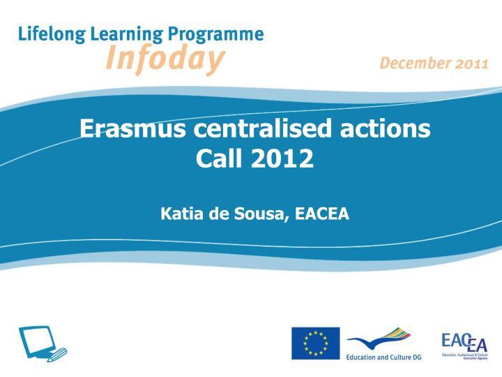 Erasmus centralised actions