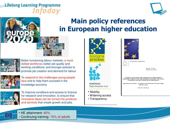 Main policy references