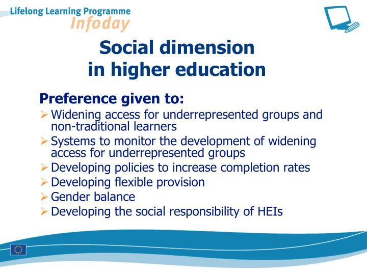 Social dimension