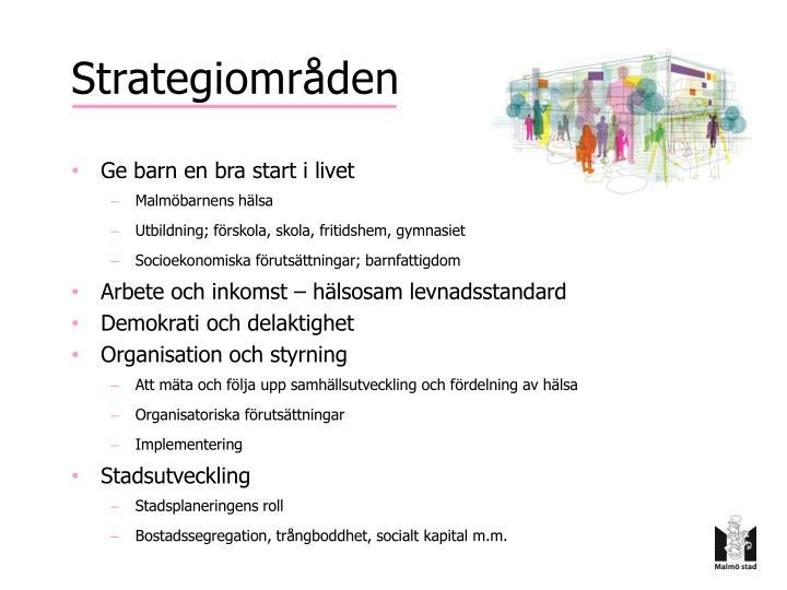 Strategiområden