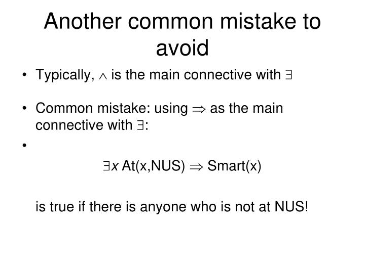 Another common mistake to avoid