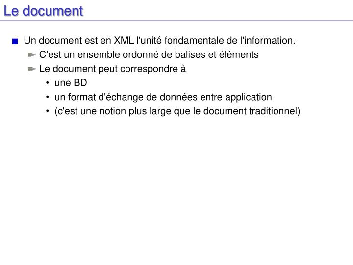 Le document