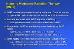 intensity modulated radiation therapy imrt