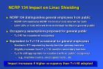 ncrp 134 impact on linac shielding