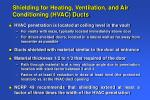 shielding for heating ventilation and air conditioning hvac ducts