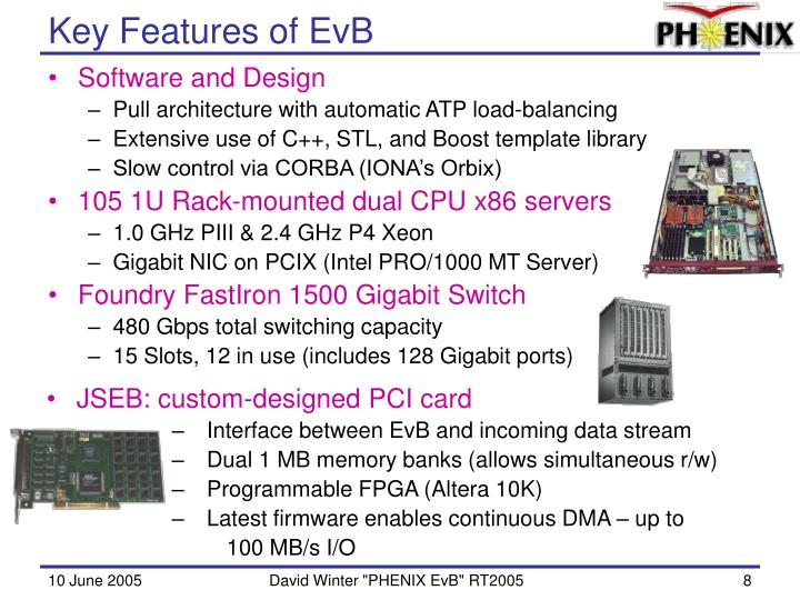 Key Features of EvB