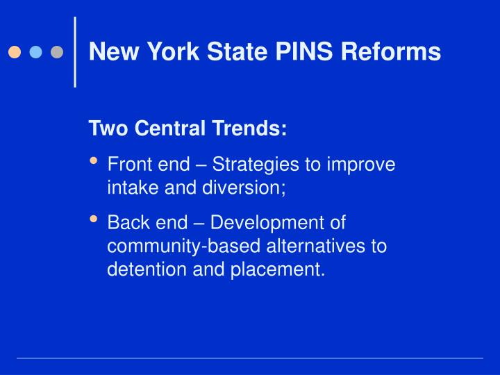 New York State PINS Reforms