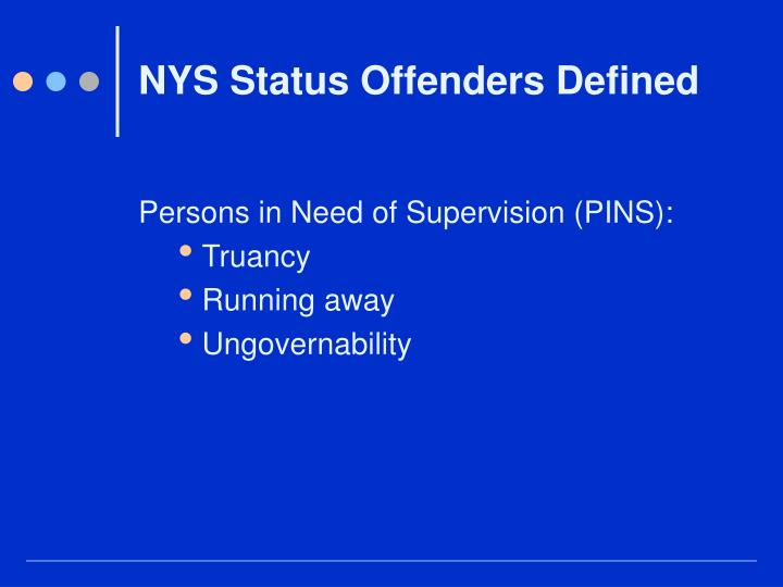 Nys status offenders defined