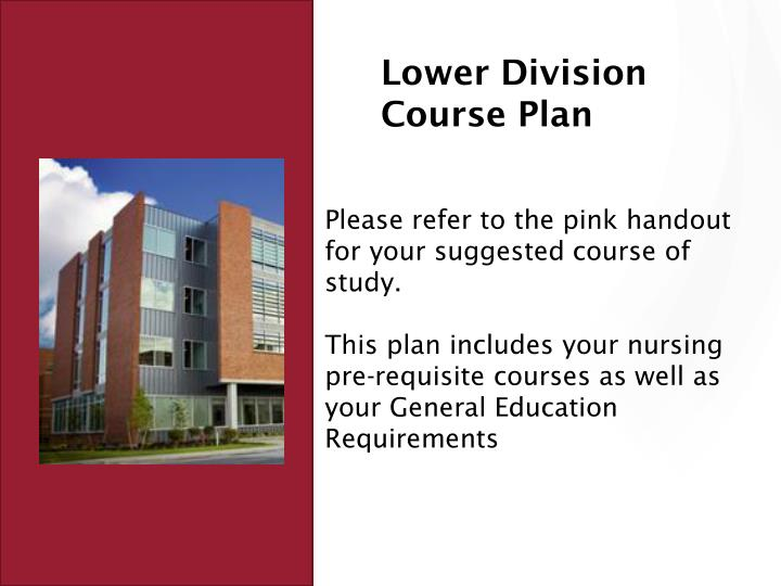 Lower Division Course Plan