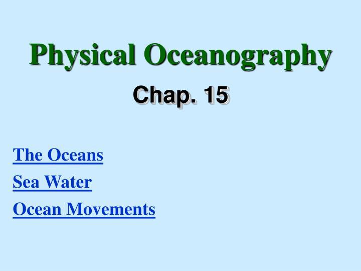 physical oceanography n.