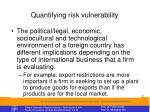quantifying risk vulnerability