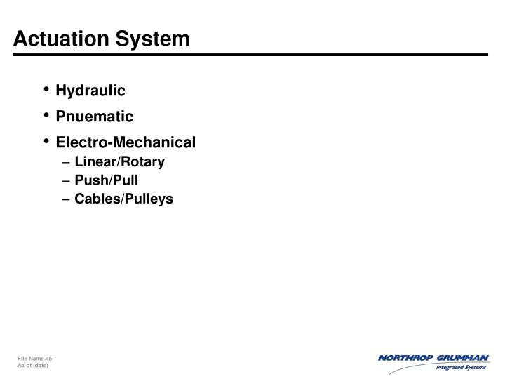 Actuation System