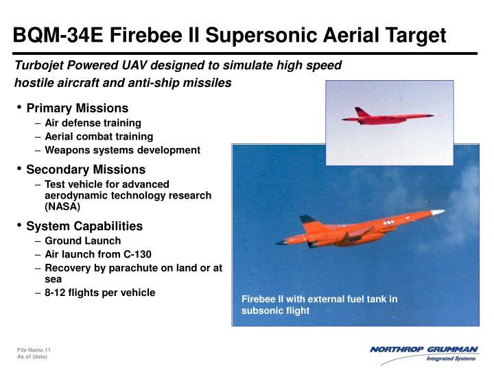 BQM-34E Firebee II Supersonic Aerial Target