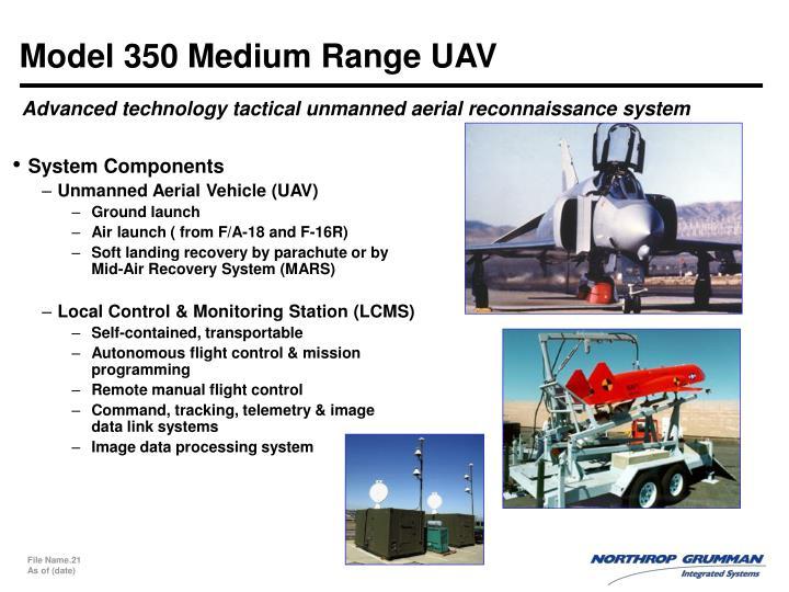 Model 350 Medium Range UAV