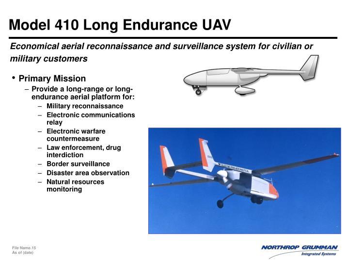 Model 410 Long Endurance UAV