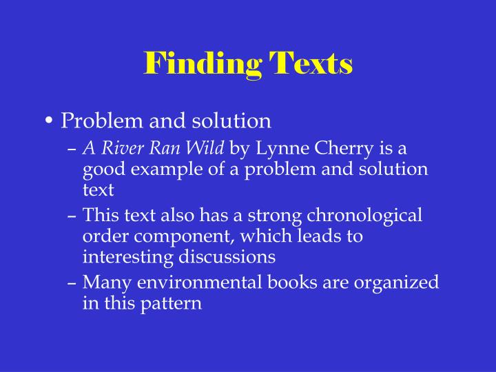 Finding Texts