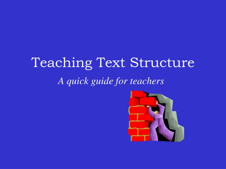 teaching text structure n.