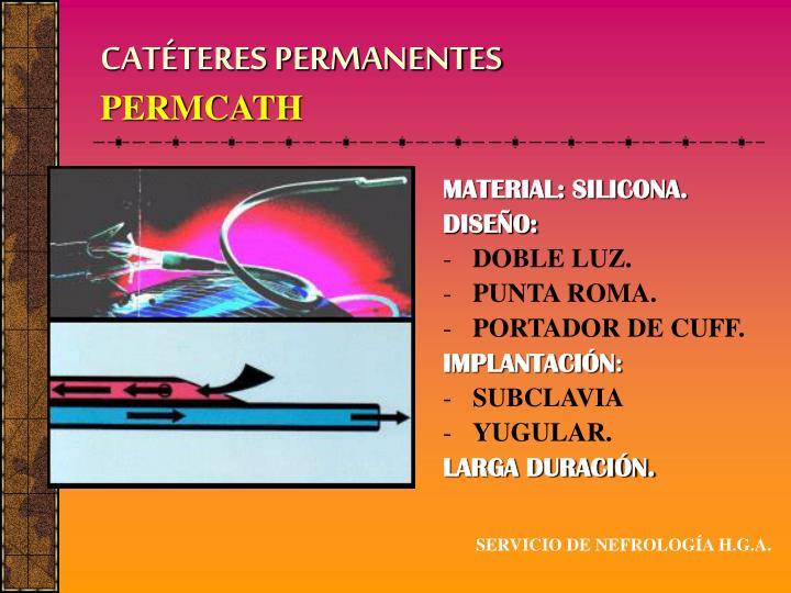 CATÉTERES PERMANENTES