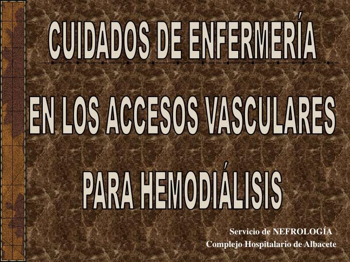 Servicio de nefrolog a complejo hospitalario de albacete