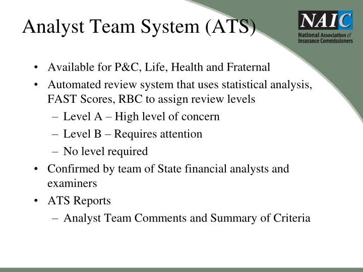 Analyst Team System (ATS)