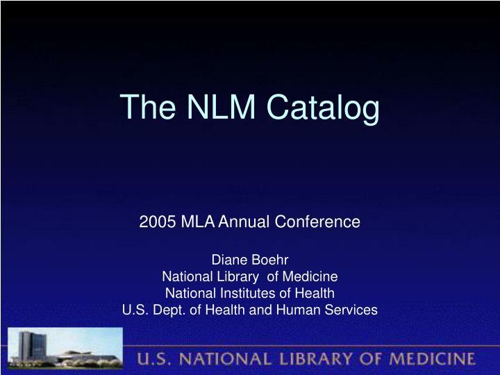 the nlm catalog n.