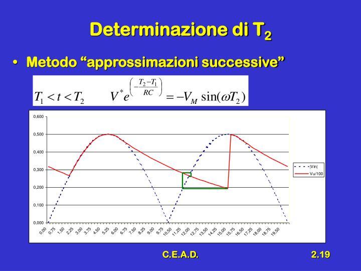 Determinazione di T