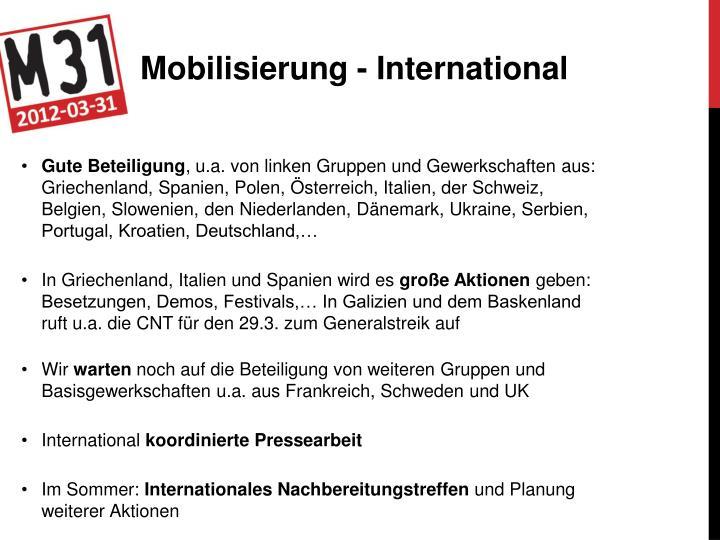 Mobilisierung - International