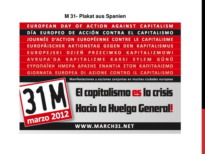 M 31- Plakat aus Spanien