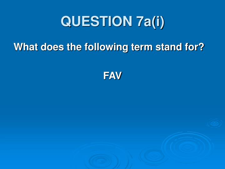 question 7a i n.