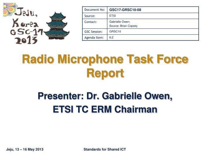 radio microphone task force report n.
