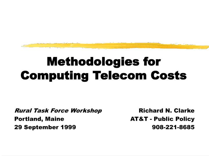 methodologies for computing telecom costs n.