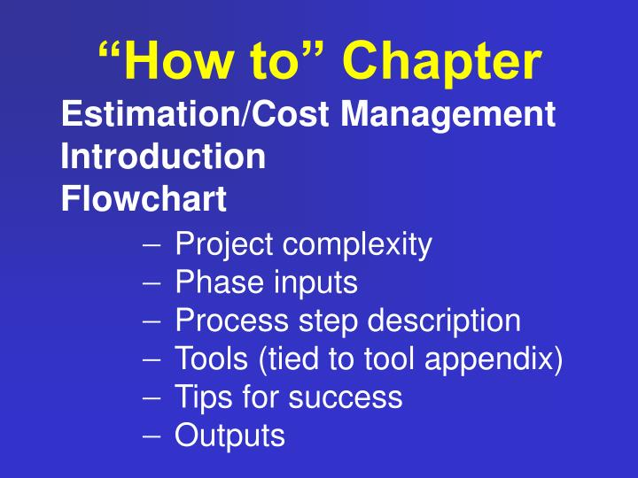 """""""How to"""" Chapter"""