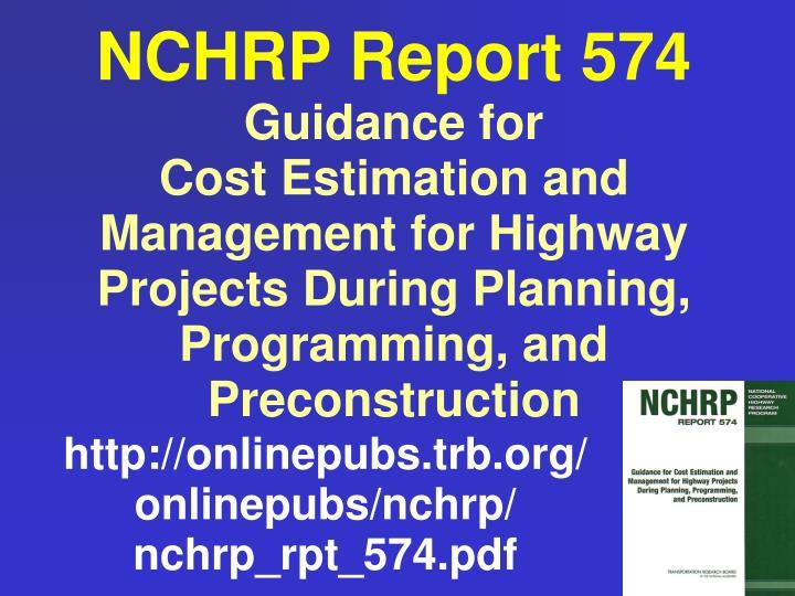NCHRP Report 574